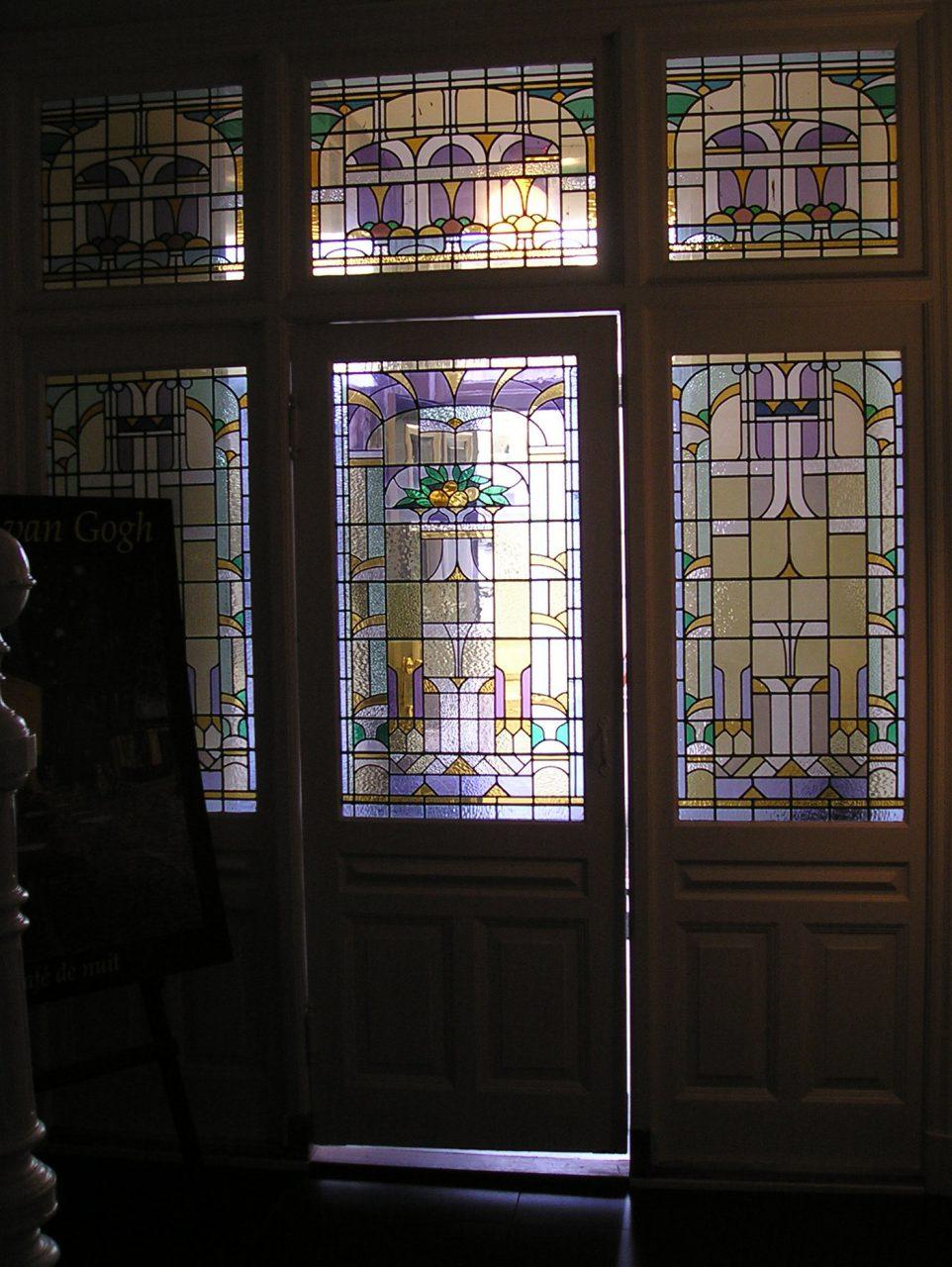 glas en lood raamdecoratie